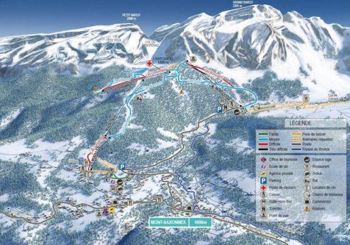 Mont Saxonnex skikaart