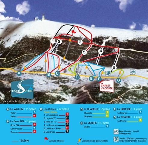 Mont Serein Mont Ventoux skikaart