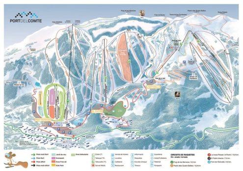 Port del Comte skikaart