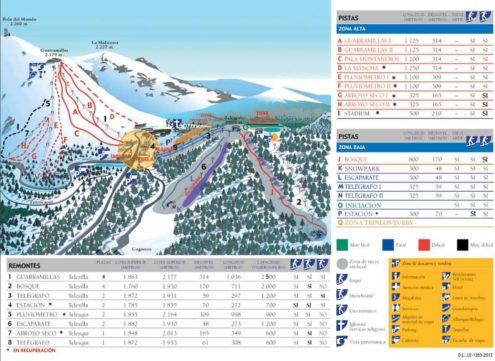 Puerto de Navacerrada skikaart